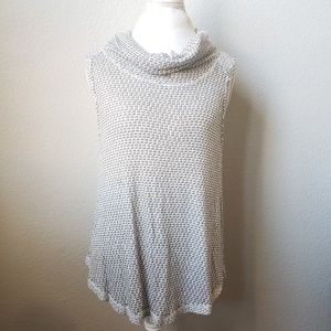 We the Free Sleeveless Cowl Neck Gray Top Size L